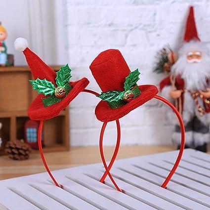 Xmas Decoration Party Favour Dress Up Novelty Fun Christmas Santa Hat Hair Clip