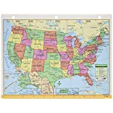 Kappa Map Group / Universal Maps UNI15024 Us and World Notebook Map 8-half X 11