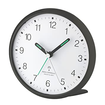 Radio reloj despertador analógico - 60.1506.20 anthracita - con movimiento de barrido silencioso