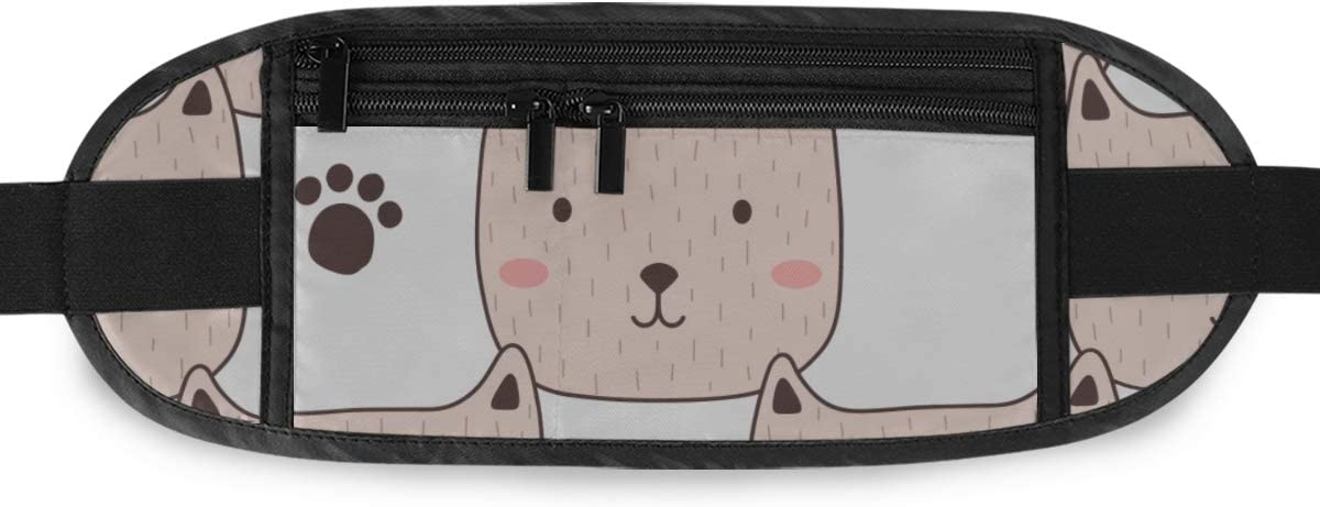 Travel Waist Pack,travel Pocket With Adjustable Belt Muzzle Cats Feline Prints Running Lumbar Pack For Travel Outdoor Sports Walking