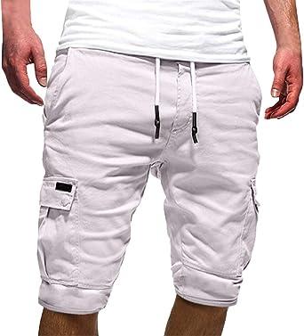 Pantalones Cortos de Hombre para Verano, ❤️Langkirt, de algodón ...