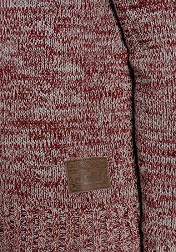 Melange Maille Pull Wine solid Croisé 8985 Coton Praktik Grosse Avec 100 Tricot over Homme Red Col Capuche Pull Pour À En rqIHqRg