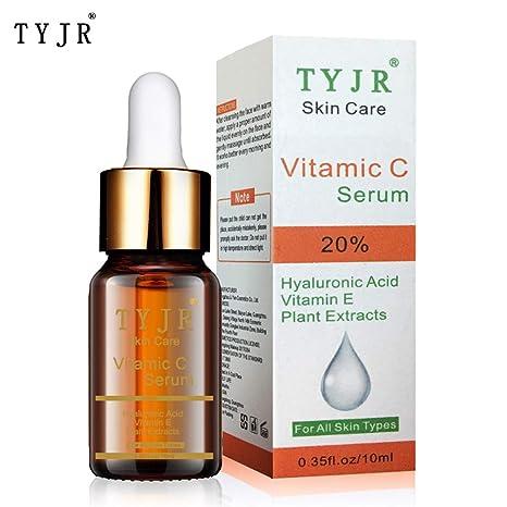 Anself TYJR suero de vitamina C mejor anti envejecimiento hidratante suero para cara, cuello,