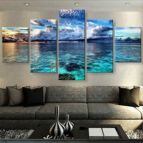 5PCS Modern Landscape  Art Oil Painting Canvas Print Wall Art Picture Home Decor