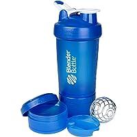 BlenderBottle ProStak System with 22-Ounce Bottle and Twist n' Lock Storage, Blue/Blue