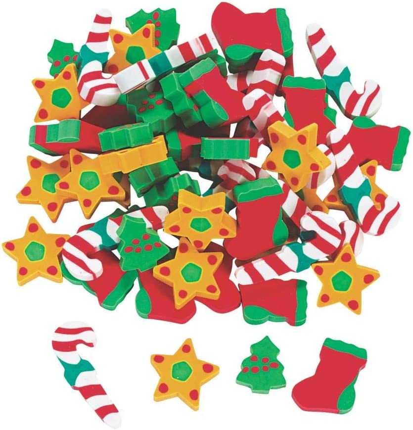 HOLIDAY ERASERS (5DZ) - Stationery - 60 Pieces