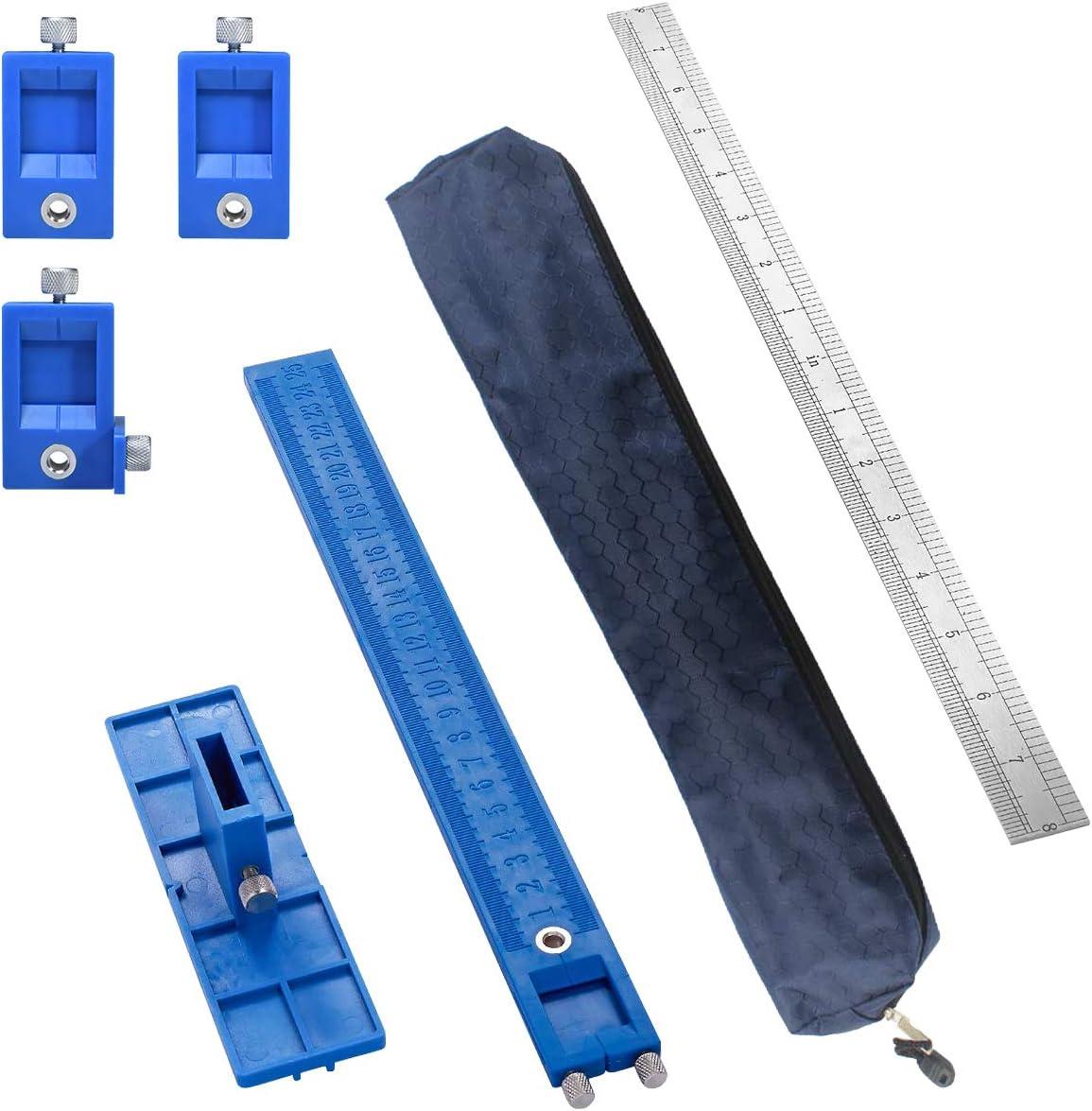 5 mm Locher Bohrlehre Jig Bohrschablone für Möbelgriffe Bohrer-Locator Bohrhilfe