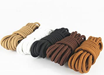 Saron- Laces de encerados, colores, multicolores, redondas - Zapatos de cordones para Business. 80'140 cm de largo, 5 mm de diámetro (120 cm, Rojo - marrón)