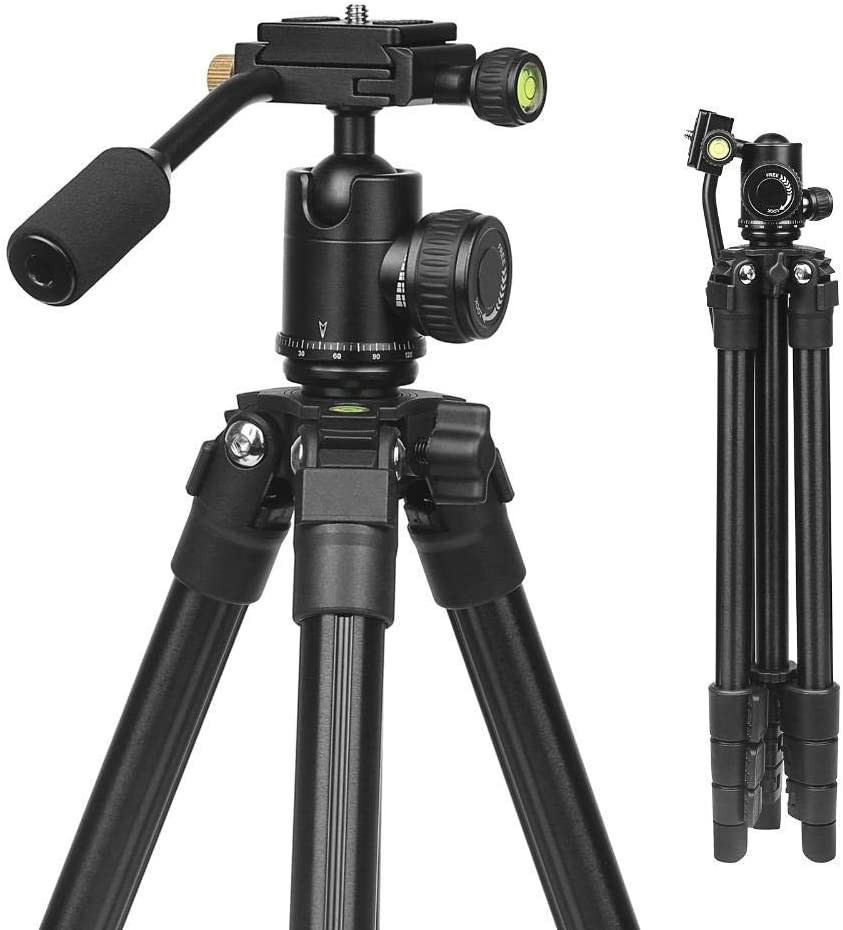 MDYYD Complete Tripods 4-Sections Lightweight Portable Aluminum Tripod for DSLR Camera Digital Camcorder Lightweight Tripod Color : Photo Color, Size : One Size