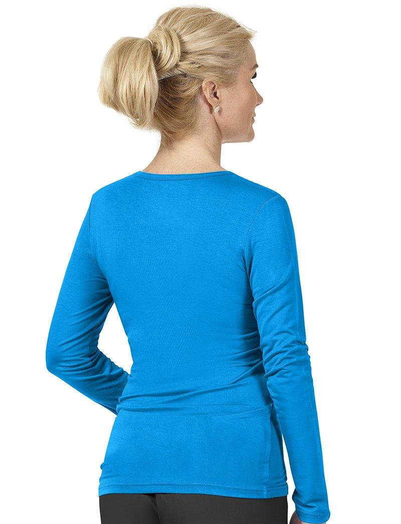 WonderWink Women's Scrubs Silky Long-Sleeve T-Shirt, Hunter Green, Medium by WonderWink (Image #2)