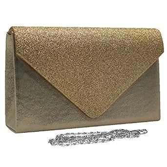 Wiwsi Female Glitter Style Handbag Envelope Evening Bridal Wallets Clutches Purse(apricot)