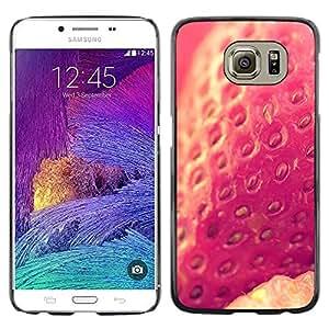 Fresa Bayas Naturaleza Sun Vignette- Metal de aluminio y de plástico duro Caja del teléfono - Negro - Samsung Galaxy S6