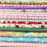 quilting kids - flic-flac 25pcs 8 x 8 inches (20cmx20cm) Cotton Fabric Squares Quilting Sewing Floral Precut Fabric Square Sheets for Craft Patchwork (25pcs 20cm20cm)