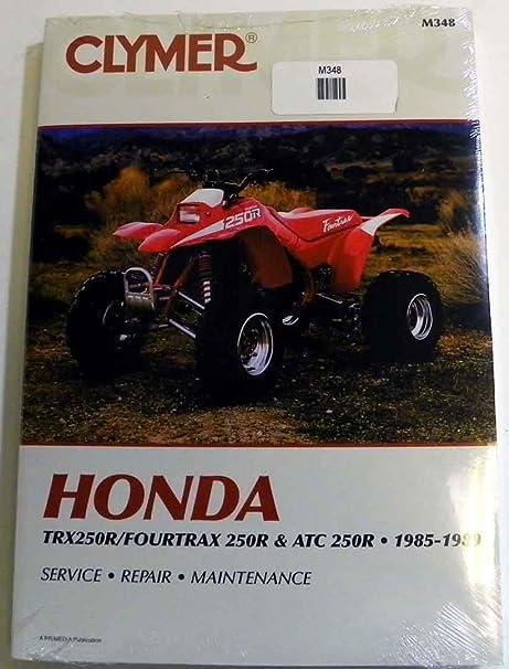 honda trx250r fourtrax atv full service repair manual 1986 1989