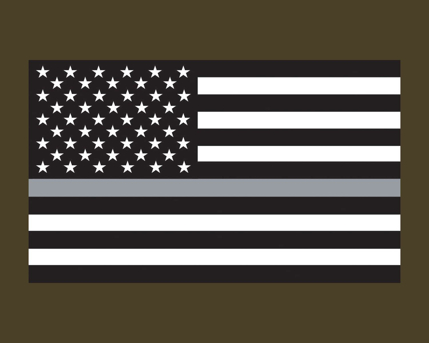 "2-1* Thin Grey Line Corrections Officer Decal 2/"" inch Reflective Decal Sticker"