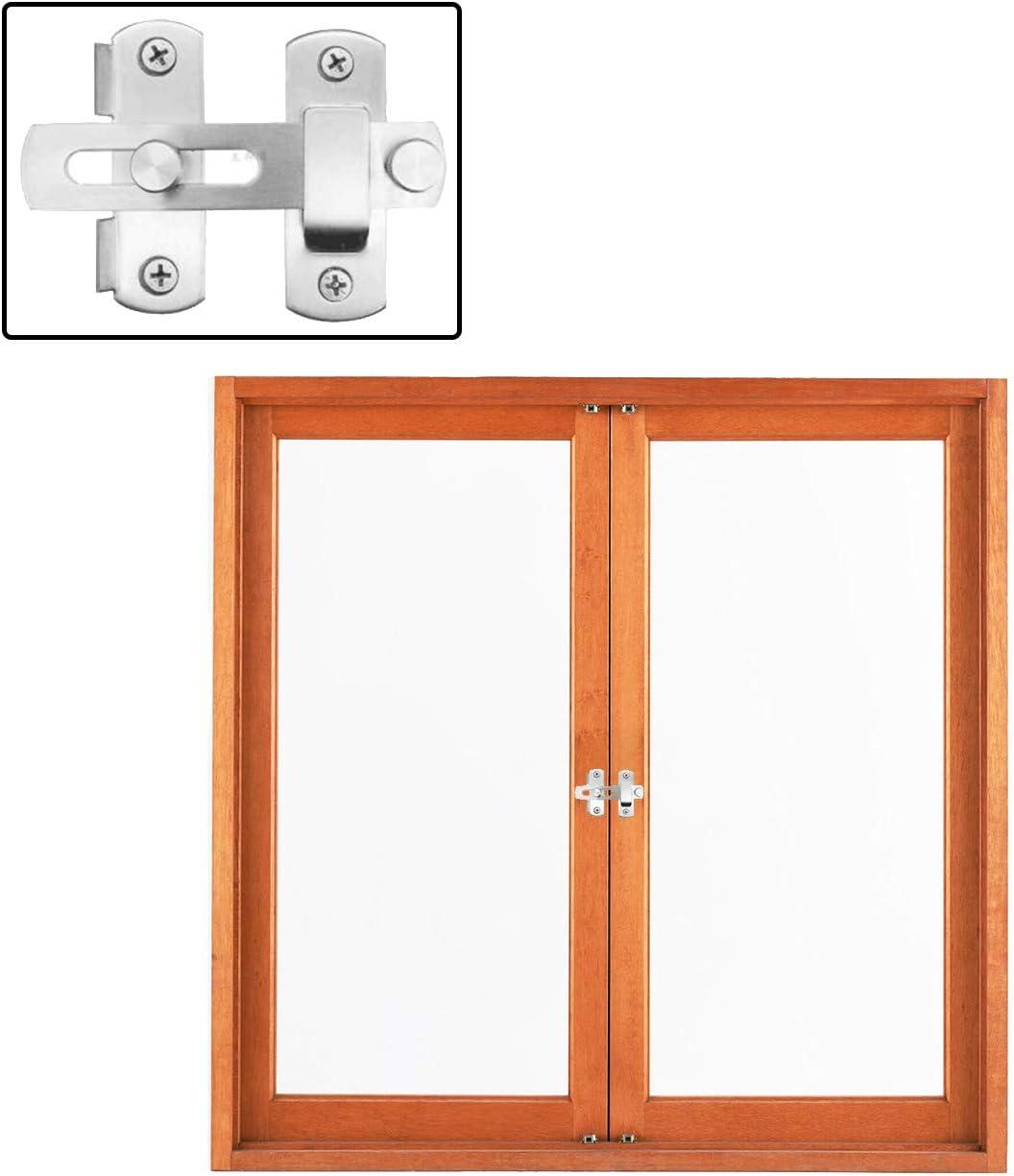 T/ür und Fensterschloss Silber Sicherheitsschutz Diebstahlsicheres Verdicktes T/ürschloss T/ürriegel aus Edelstahl 180/°