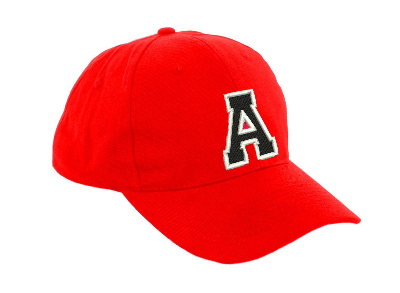 Gorra de béisbol infantil diseño con letras unisex color rojo multicolor a