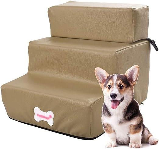Escalera de Mascota Escaleras de Perro ensamblables para sofá, rampa para peldaños de Cama para Perros con rampa Desmontable para Mascotas, hasta 3 kg, Superficie Impermeable: Amazon.es: Hogar