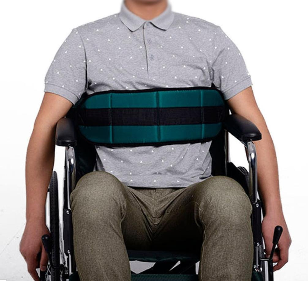 LUCKYYAN Fixed Band Seat Belt Soft Cushion Belt, for Wheelchair or Bed GREEN