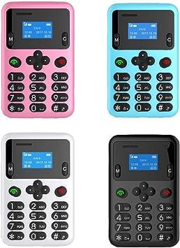 takestop® Mini Phone móvil A6 Smartphone 8 x 5 cm SIM card ...