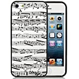 iPhone 5S Case,iPhone 5S Black Case, Dsigo TPU Full Cover Protective Case for New Apple iPhone 5S - Sheet music