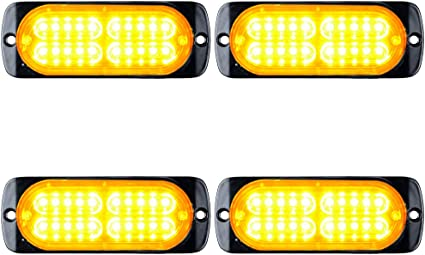 4X Amber//Yellow 20LED Car Truck ATV Emergency Warning Hazard Flash Strobe Light