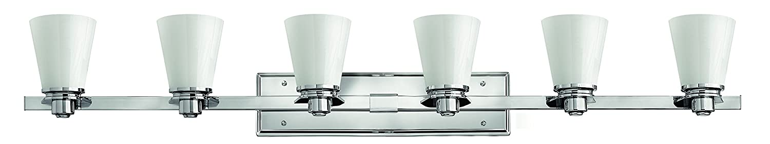 Hinkley 5556CM Transitional Six Light Bath from Avon collection in Chrome, Pol. Nckl.finish,