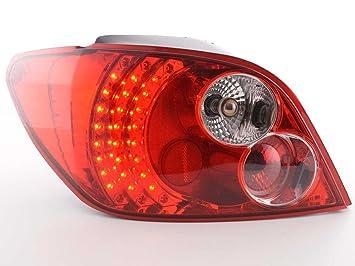 at71997 - LED Faros traseros Peugeot 307 Hatchback Bj. 01 - 04 transparente/rojo: Amazon.es: Coche y moto
