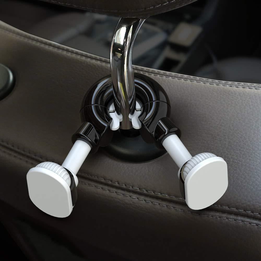 Blue-White JIAKANUO Car Auto Universal Back Seat Headrest Hook Hooks Holder for Shopping Bag Hanger Bag Purse Water Bottle Umbrella