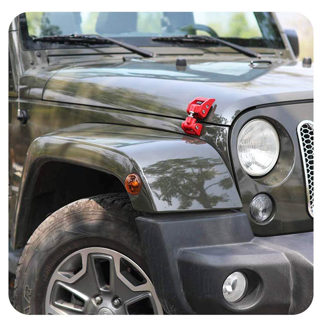 Psler Auto Hood Latches Hood Lock Catch Kit for Jeep Wrangler JK 2007-2017 Silver