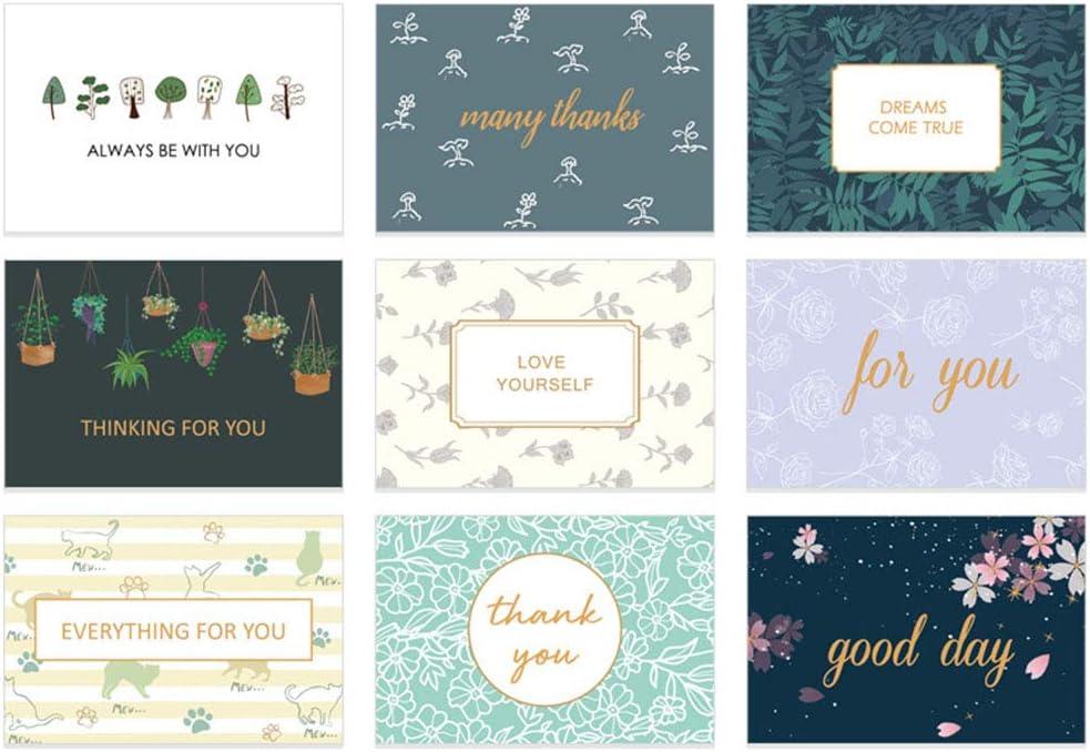 36 Piezas Tarjeta de Gracias Tarjetas de Agradecimientos para Tarjetas de Cumpleaños, Despedidas de Soltera para el Día de la Madre y Graduaciones, Aniversario, Todas las Ocasiones.