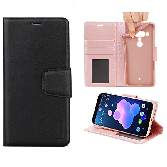 newest 9bf2f 97310 Amazon.com: Leather Wallet Case for HTC U12 Plus – PU Leather Wallet ...