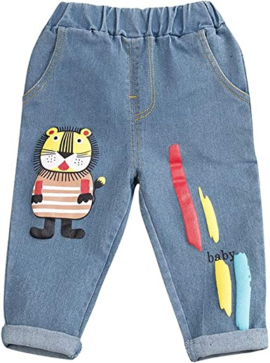 Amuse Miumiu Unisex Ninos Pantalones Ninos Bebe Ninas Ninos Dibujos Animados Carta Impreso Jeans Pantalones Largos Amazon Es Ropa Y Accesorios