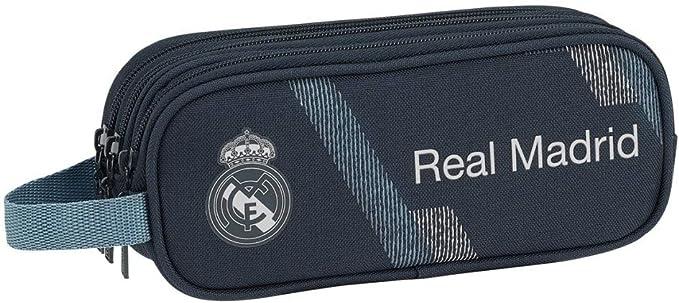 Safta 231190 Real Madrid 2 Estuches 21 cm, Azul: Amazon.es: Juguetes y juegos