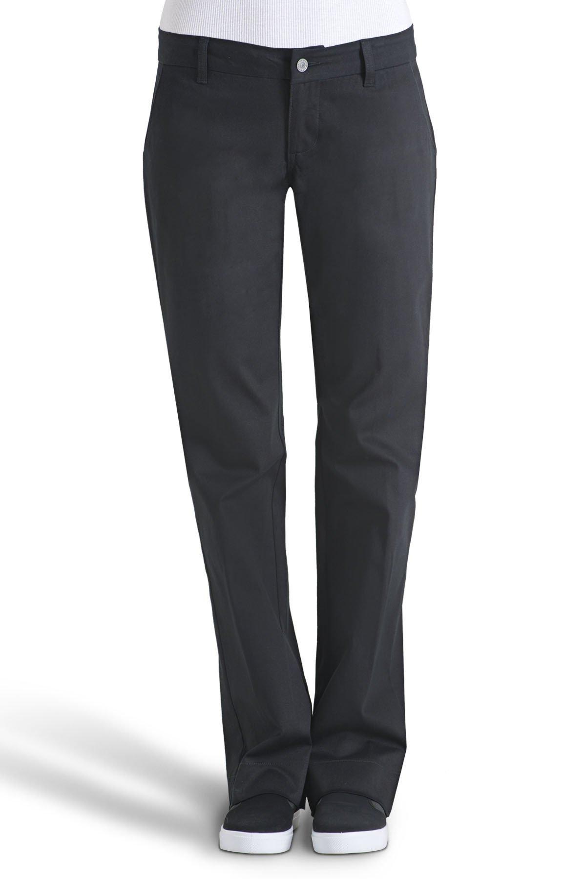 Dickies Girls Juniors' Bull 4-Pocket Bootcut Pant-School Uniform,Black,0