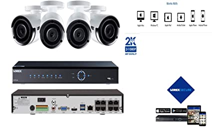 LOREX PoE Home Security System with 8 Channel 4K Ultra HD NVR and 2K