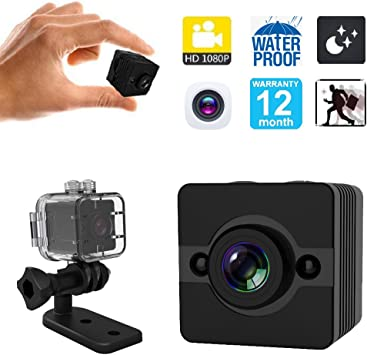HD 1080P Waterproof Mini Invisible Spy Hidden IP Video Recorder Action Camera
