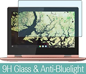 "Synvy Anti Blue Light Tempered Glass Screen Protector for Lenovo CHROMEBOOK C340-11 11.6"" Visible Area 9H Protective Screen Film Protectors"