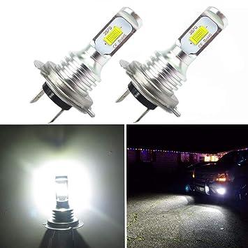 WLJH - Bombillas de luz antiniebla LED de alta luminosidad, 1000 lúmenes 72W H7 DRL