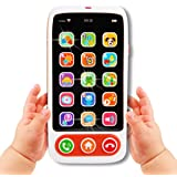 Elf Lab Baby Cell Phone Toy, Kids Play Phone with Big Touch Screen Lights Music Educational Toy for 6 8 10 12 18 Months…