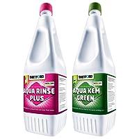 Thetford 1,5 L Aqua Rinse Plus +1,5 L Aqua KEM Green