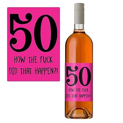 50 cumpleaños botella de vino etiqueta 50 hoy regalo ...