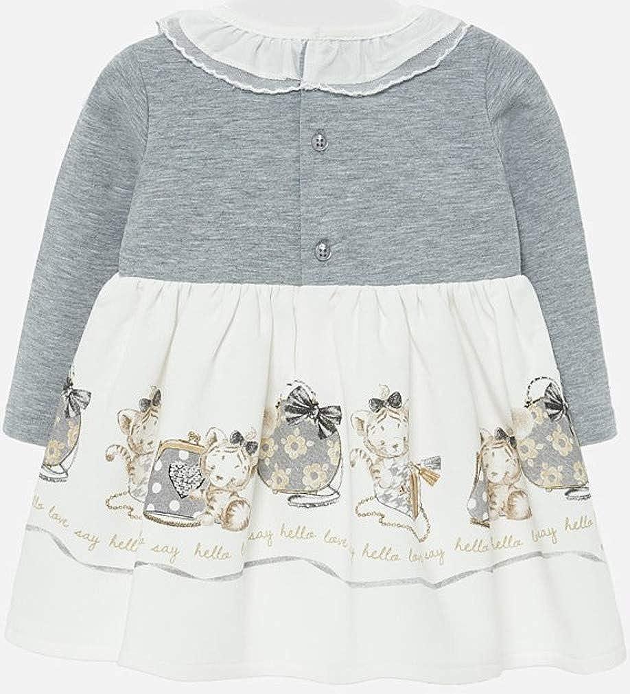 Vestito Invernale a Maniche Lunghe da Bambina Mayoral Motivo: Gattino