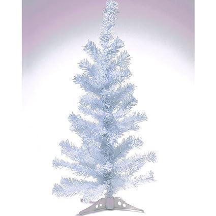 Albero Di Natale Bianco 90 Cm.Hab Gut Xm033 Albero Di Natale Artificiale Abete Colorato Bianco Altezza 90 Cm