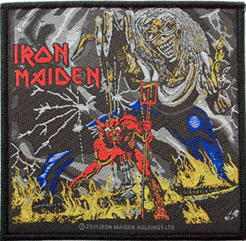 Iron Maiden Number Of The Beast Metal Music Band Woven Applique Patch
