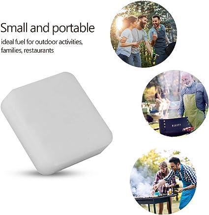 Tabletas de Combustible Sólido,8Pcs / Caja Solido Tabletas de Combustible de Hexamina Sólidas Bloque para Acampar al Aire Libre Picnic Cocina BBQ ...
