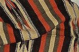 Mexican Blanket Handwoven XLarge Tribal Arrow Falsa in ''Burnt Umbre'' 82 X 48 HEAVYWEIGHT Premium Blanket Mexican Yoga Bohemian Throw Indian Rug Serape