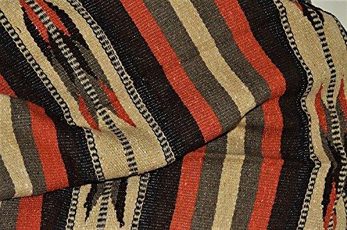 (Galaxy Reborn Mexican Blanket Handwoven XLarge Tribal Arrow Falsa in Burnt Umbre 69 X 54 Heavyweight Premium Blanket Mexican Yoga Bohemian Throw Indian Rug Serape)