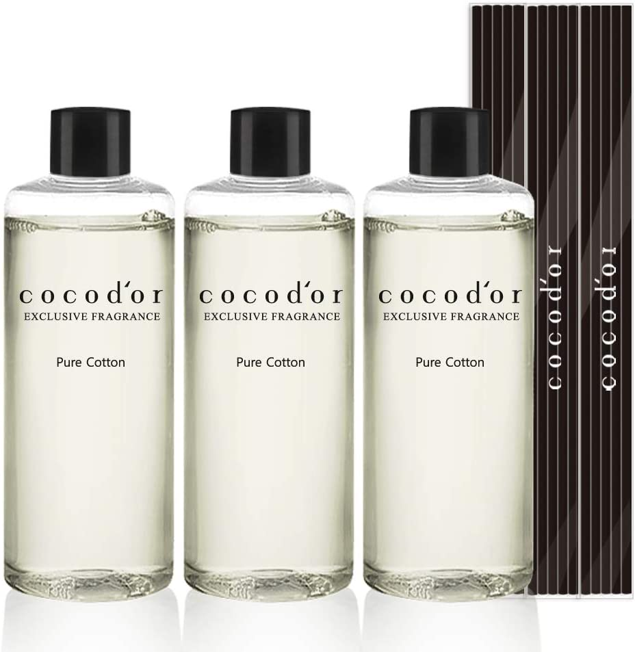 Cocodor Reed Diffuser Oil Refill/Pure Cotton/6.7oz(200ml)/3 Pack