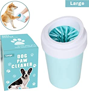 bealy Dog Paw Cleaner Large/Petite Dog Paw Washer Easy to Use Portable Dog Paw Cleaner Cup Dog Foot Washer with Silicone Washers Nice Packing